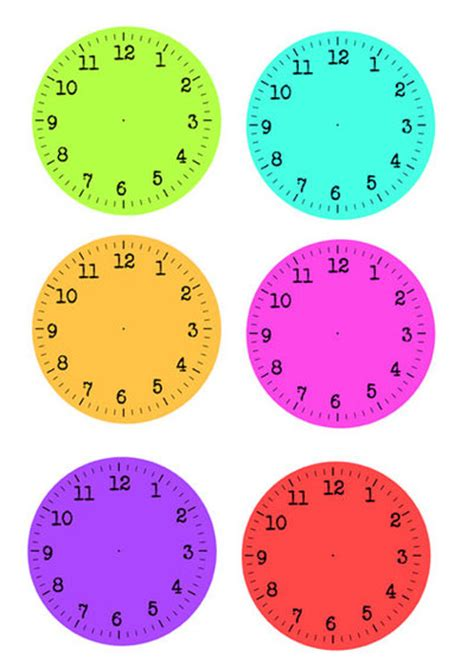 printable paper clock dials number names worksheets 187 free printable clocks free