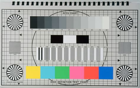 gamma test pattern hdtv accu chart 16 9 hdtv high definition engineers test chart