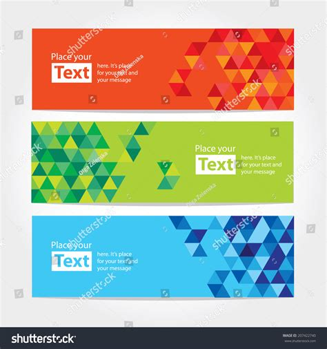 banners flat design elements vector 18 abstract cubic banners with cubical design elements
