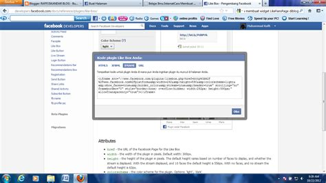 membuat widget facebook di website raffi iskandar blog cara membuat widget facebook like di blog