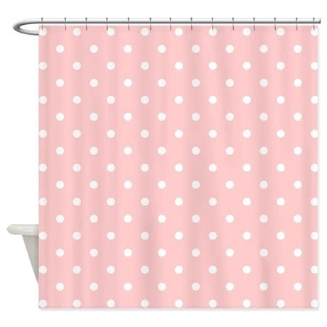 pink pattern shower curtain pale pink dot pattern shower curtain by metarla