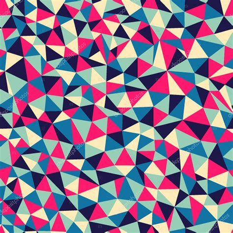 seamless mosaic pattern vector seamless texture with triangles mosaic endless pattern