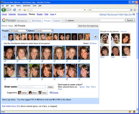 Google Images Face Recognition | face recognition comes to picasa web albums much before