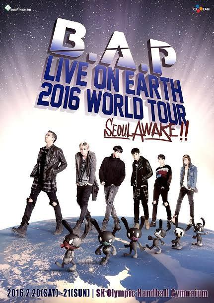 Announces Live Earth Concert Event by Loe2016 B A P Announces Locations For Their 2016 Quot Live