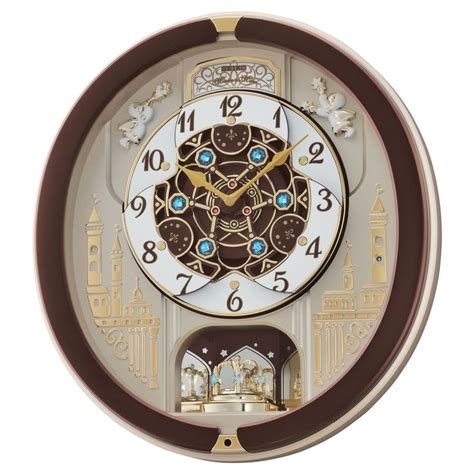 Jam Dinding Seiko Qxm363b Pendulum Melodies seiko qxm291b melody in motion home wall clock 18 melodies with volume ebay