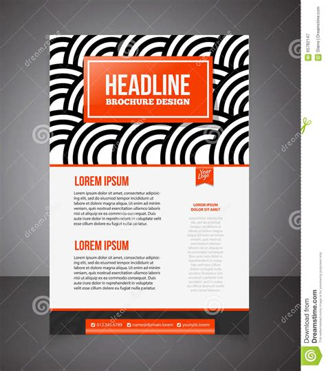 offer flyer template business brochure or offer flyer design template brochure desig stock vector image 65782147
