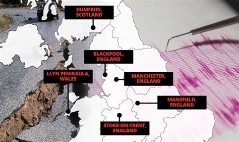 earthquake hotspots revealed britain s earthquake hotspots are you affected