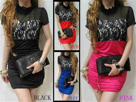 Dress Flower Brokat Murah bintang shop 8033 dress brokat spandek rp59 000 min 4