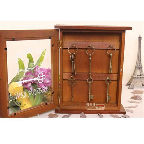 jewelry box wall mounted cabinet retro vintage wood key cabinet box wall mounted jewelry
