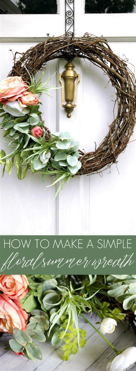 simple floral summer wreath summer wreath
