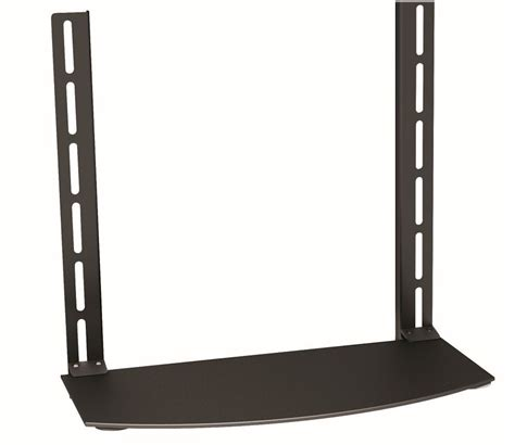 Tv Accessory Wall Mount Shelf by Cable Mart Dvd Blueray Slim Glass Accessory Shelf For