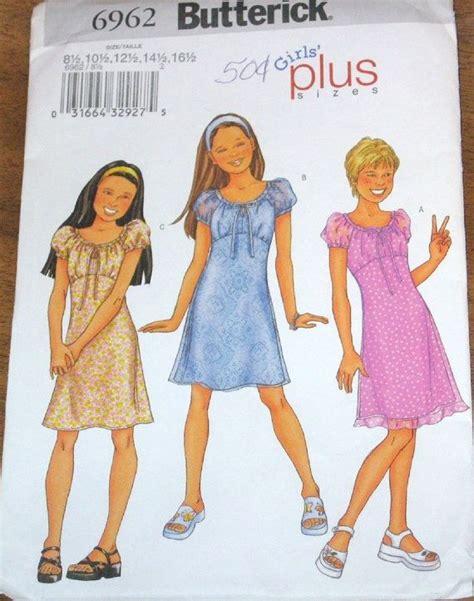 butterick   girls empire dress tweens