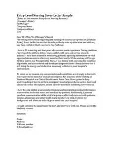 nursing cover letter exles entry level cover