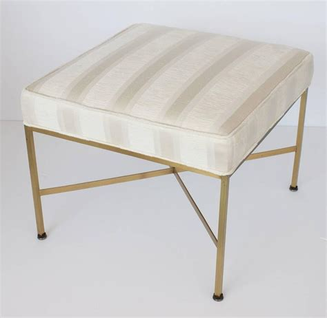 x base ottoman paul mccobb brass x base ottoman foot stool at 1stdibs