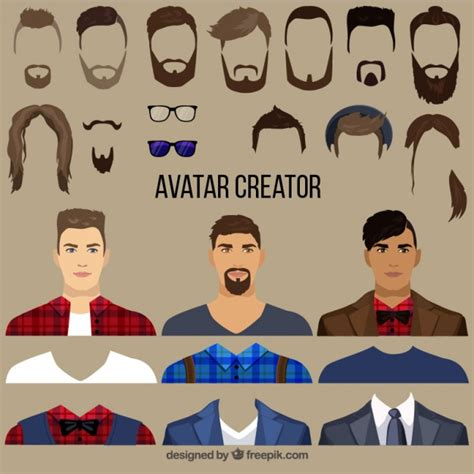 creador de planos creador de avatares masculinos planos descargar vectores