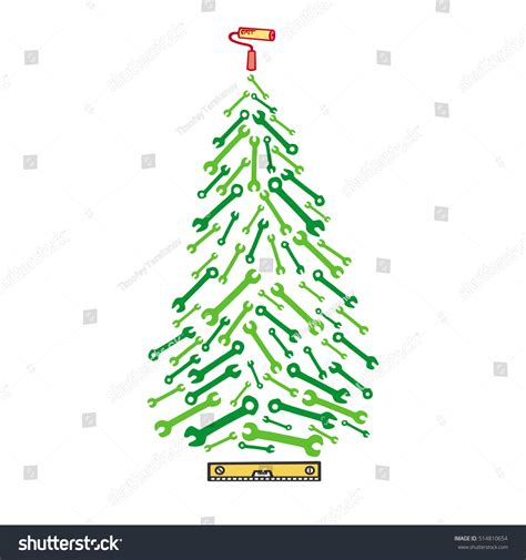 christmas tree tools stock vector 514810654 shutterstock