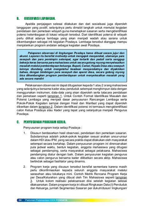 format buku keuangan pkk buku pedoman kkn posdaya undip