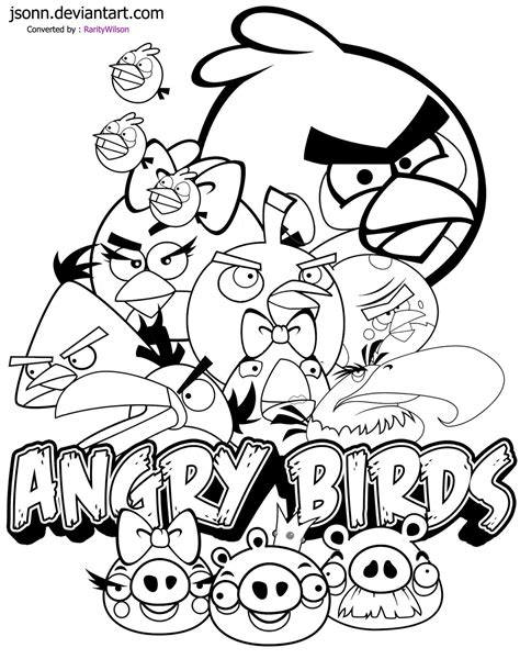 Angry Birds Coloring Pages Team Colors Angry Birds Coloring Pages