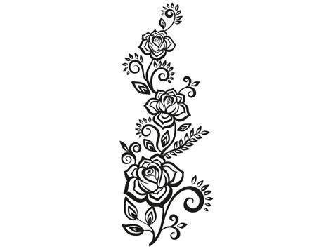 rosenranke wandtattoo rosen ranke rose wandtattoo ranken