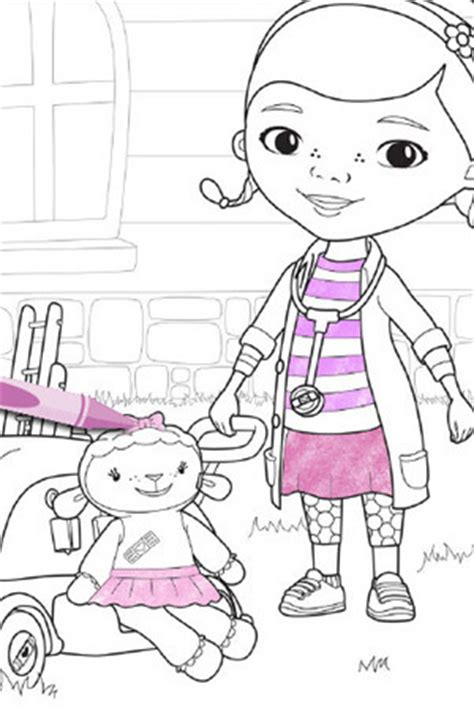 doc mcstuffins coloring pages disney junior doc and lambie coloring pages disney junior