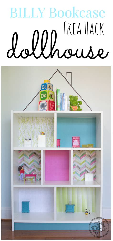 bookcase turned into billy bookcase diy dollhouse ikea hack the diy village