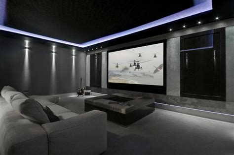 home theater design lighting mediacube modern home theater manchester uk by