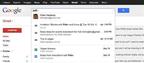 Gmail Account Search By Email Drive And Calendar Search Rolling Out To All Us Gmail Accounts