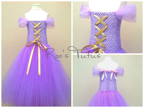 Handmade Disney Princess Dresses - disney rapunzel inspired tutu dress costume handmade