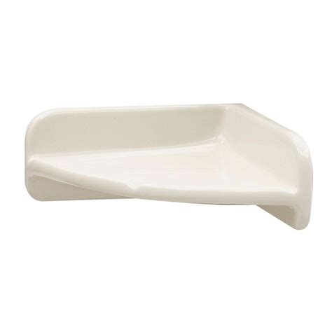 Porcelain Corner Shower Shelf by Upc 015129170473 Lenape Bathroom 7 In X 7 In Bone