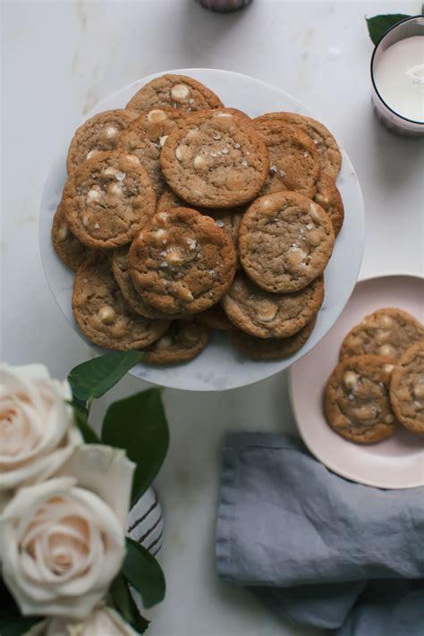 miso white chocolate chip cookies  cozy kitchen