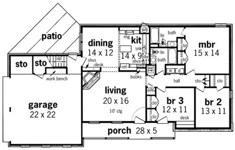 floor plans for homes one story sansberry 1413 7323 3 bedrooms and 2 5 baths the house designers
