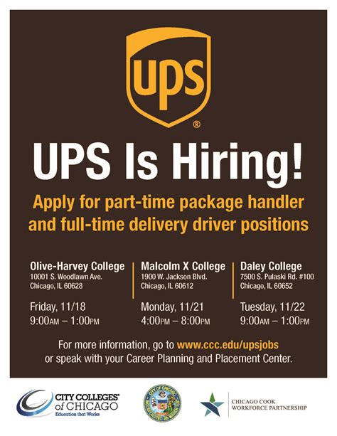 Mayor Emanuel announces City Colleges partnering with UPS ... Ups Jobs Employment