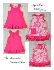 tutorial reversible ribbon dress   girls sewing