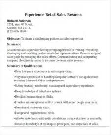 Resume Sles In Retail Sales Best Sales Resume Free Premium Templates