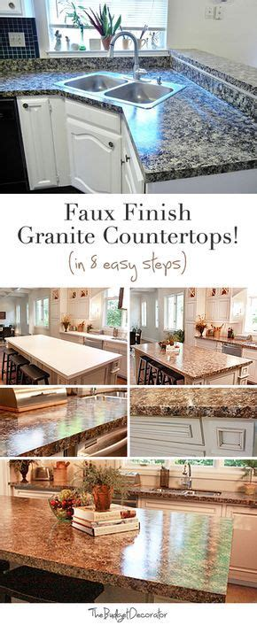 25 best ideas about faux granite countertops on