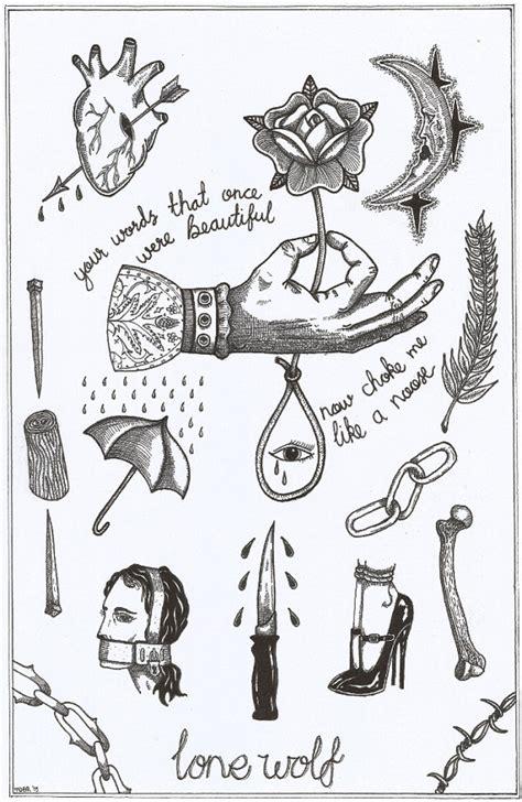 tattoo flash words a4 your words choke me like a noose tattoo by