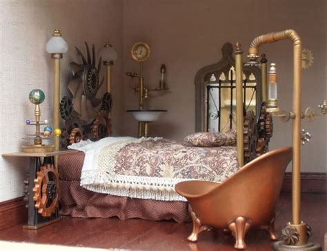 steam punk bedroom steunk miniature bedroom www theminiaturemaker co uk