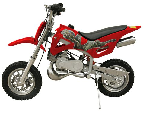red dirt bike 49cc 50cc black 2 stroke gas motorized mini dirt pit bike