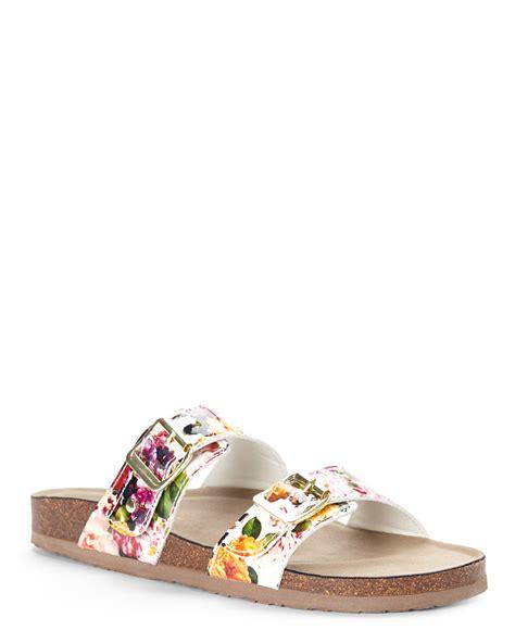 Floral Sandals madden white floral brando sandals in floral white