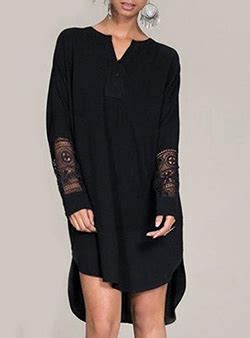Vintage Lace Insert High Low Dress sleeve high low dresses cheap price wholesale