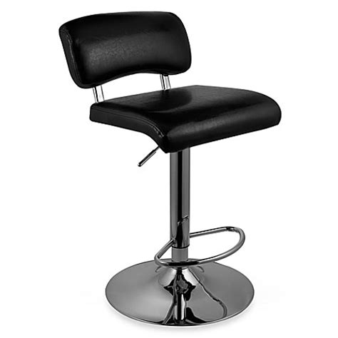 Airlift Stool With Chrome Finish airlift stool with chrome finish bed bath beyond