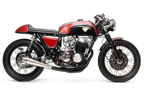 Honda Cafe Racers Stunning On Black Honda Cb750 Cafe Racer
