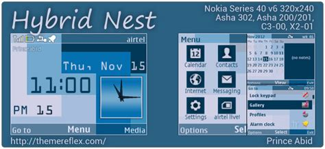 themes nokia x2 01 by princeabid hybrid nest theme for nokia asha 302 c3 00 x2 01 320