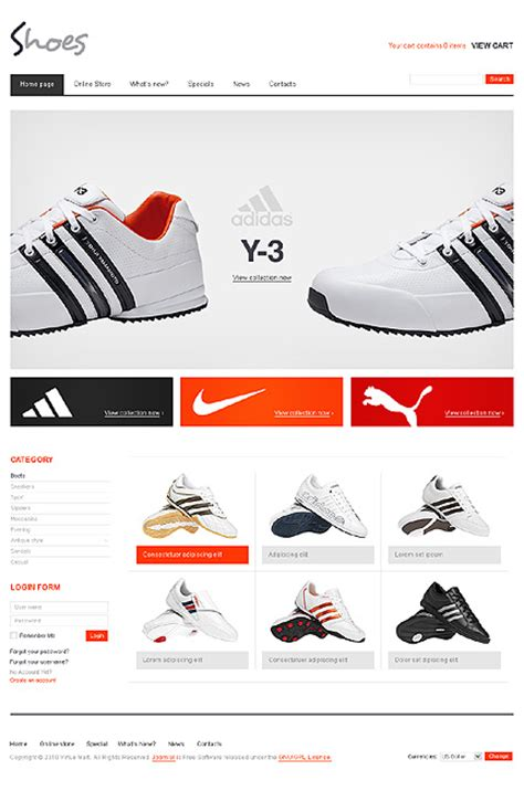 virtuemart template free template 28788 shoes fashion virtuemart template
