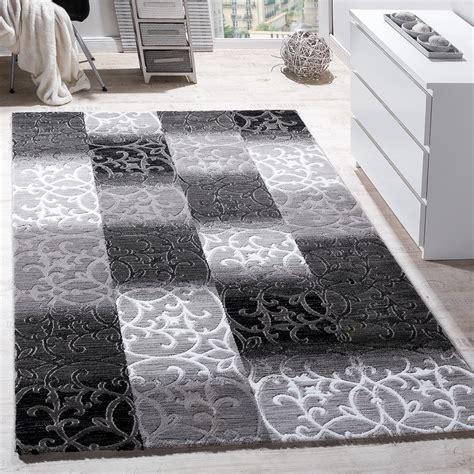 Design Teppiche by Teppich Wohnzimmer Kariert Abstrakt Grau Design Teppiche
