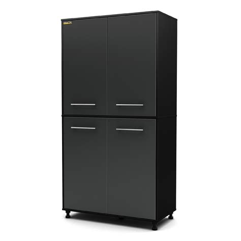 6 Shelf Storage Cabinet by South Shore Karbon Storage 6 Shelf Cabinet In Black