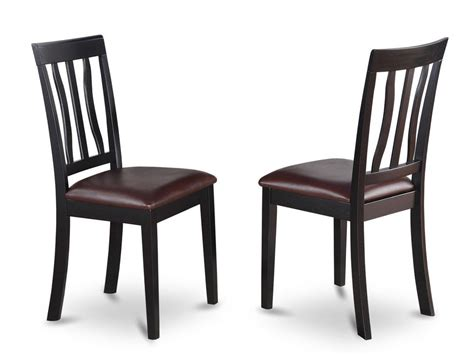 Set Of 2 Antique Dinette Kitchen Dining Chairs With Dining Kitchen Chairs