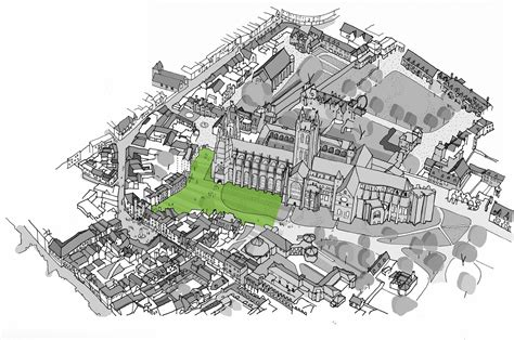 canterbury cathedral floor plan canterbury cathedral landscape design competition archdaily