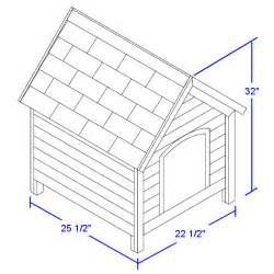 house dimensions free dog house plans