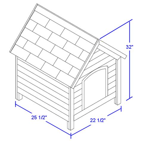 house dimensions online free dog house plans